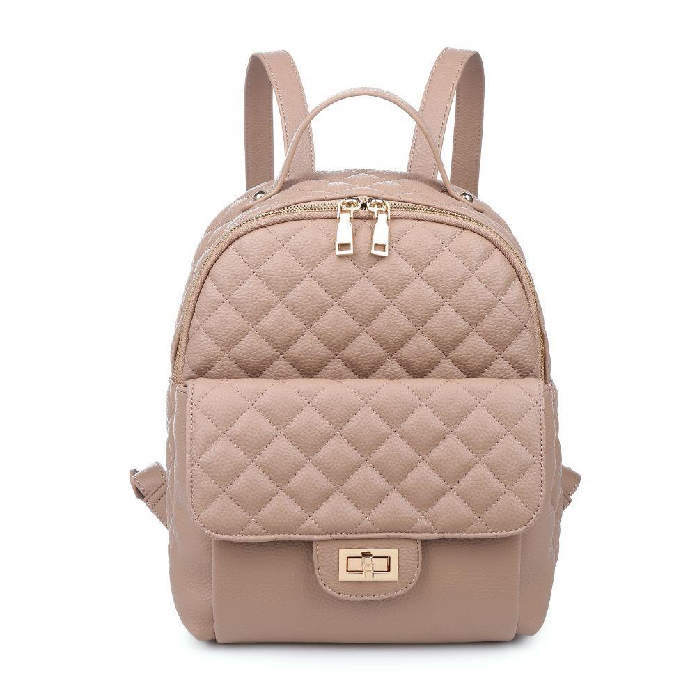 Hailey Vegan Leather Backpack in Natural - Dainty Hooligan