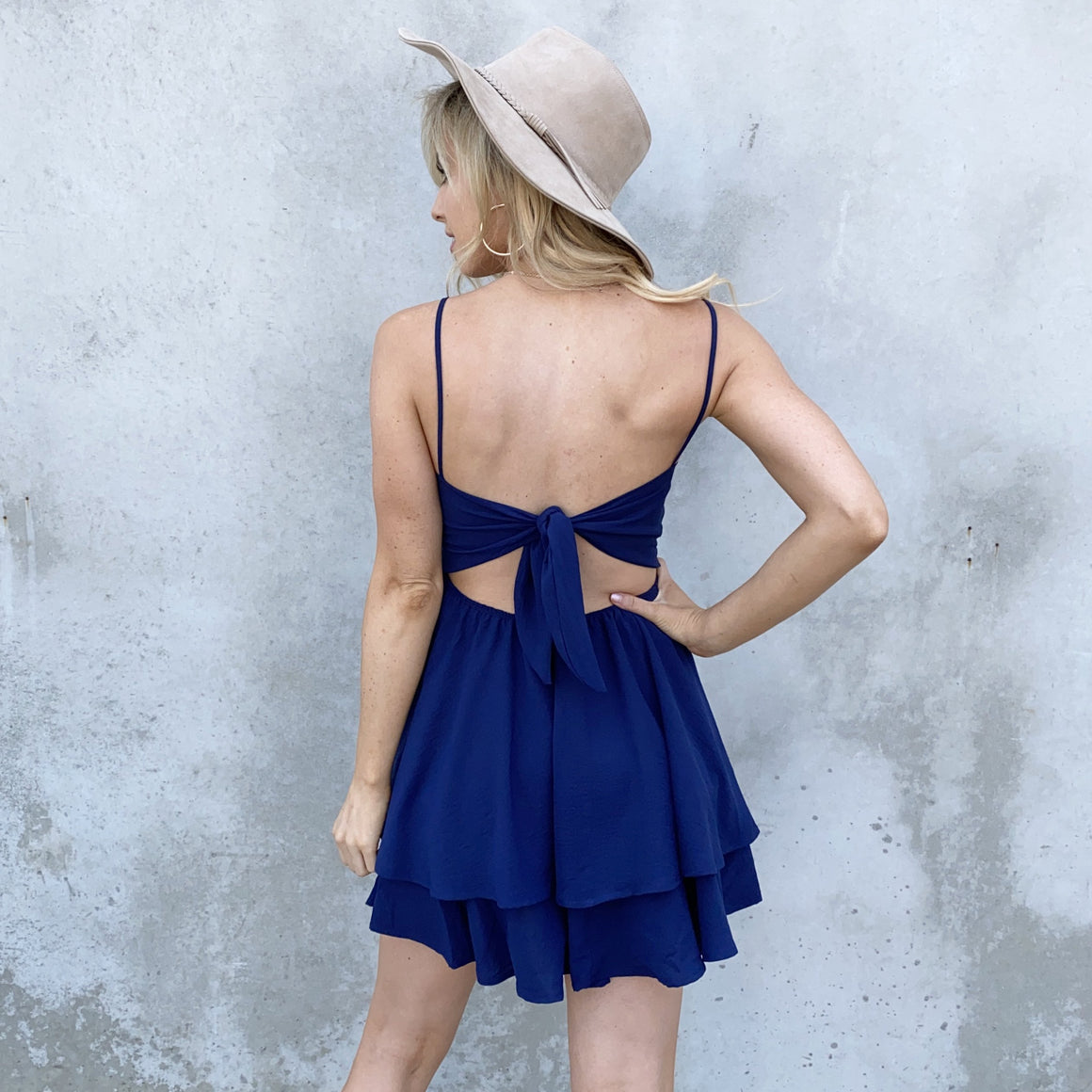 Cheers To That Skater Dress in Navy - Dainty Hooligan