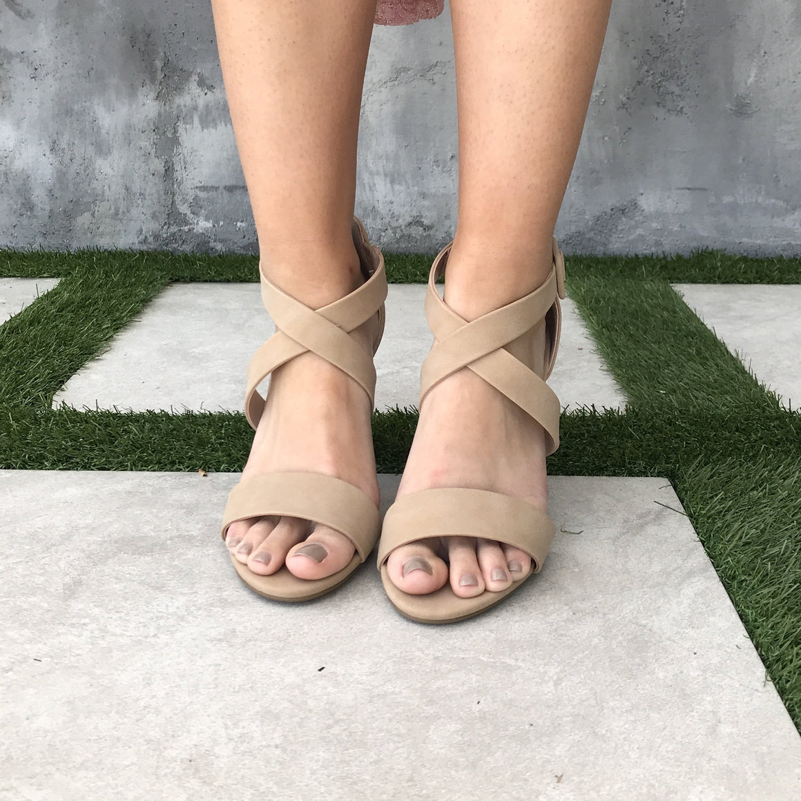 Lover's Lane Strap Heels in Natural - Dainty Hooligan