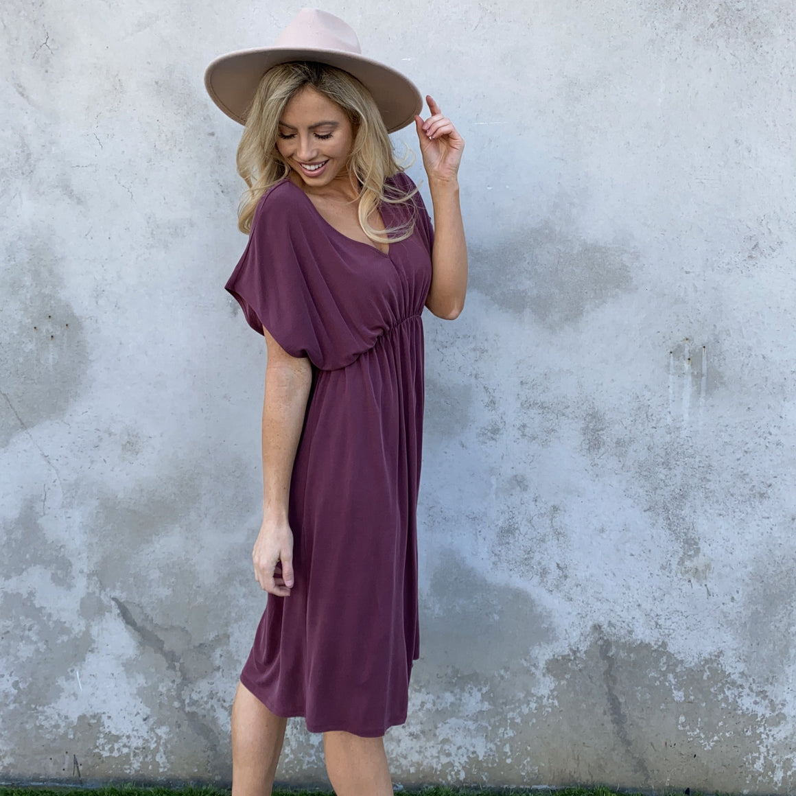 Everything Beautiful Midi Dress in Wine - Dainty Hooligan