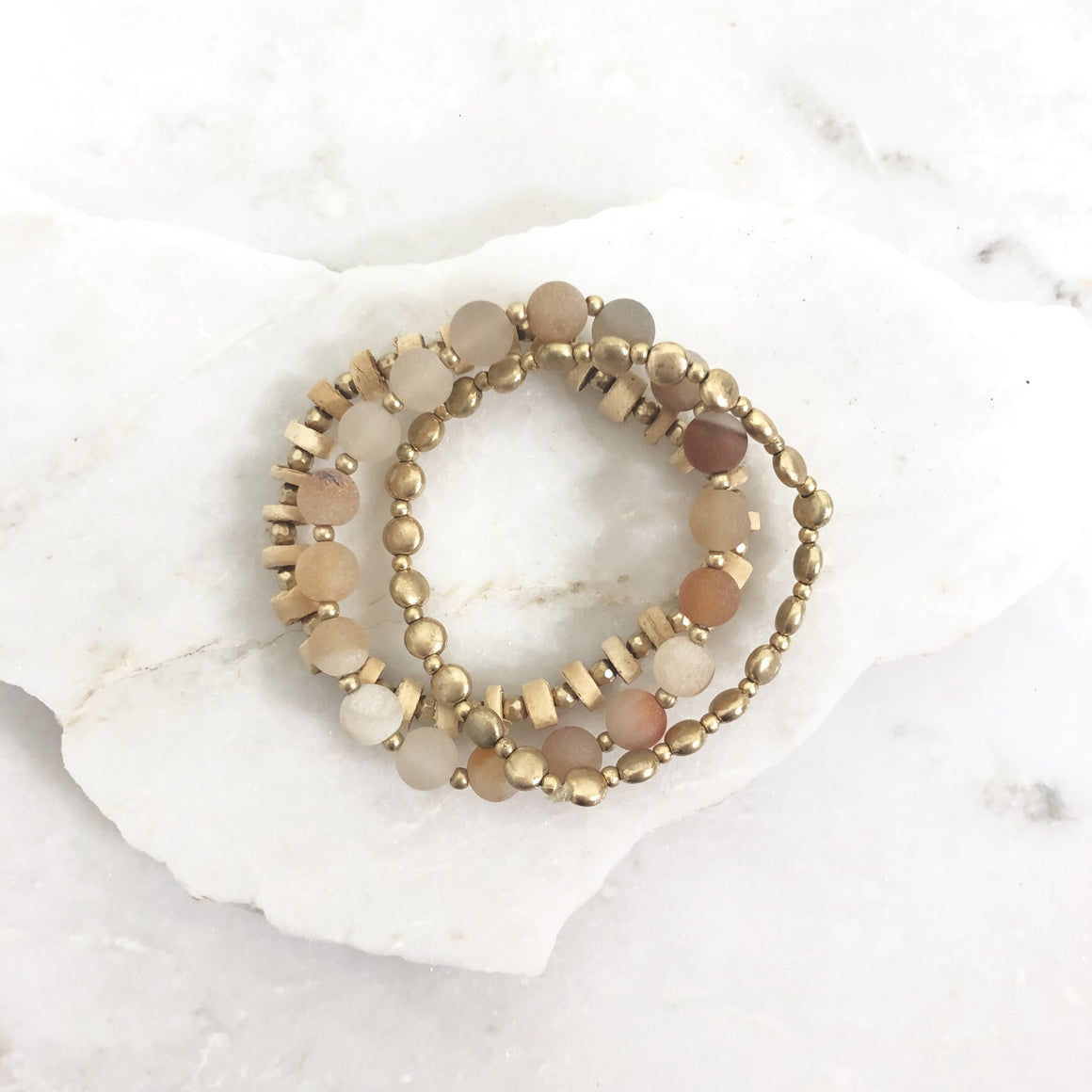 Coral Reef Stretch Bracelet Set - Dainty Hooligan