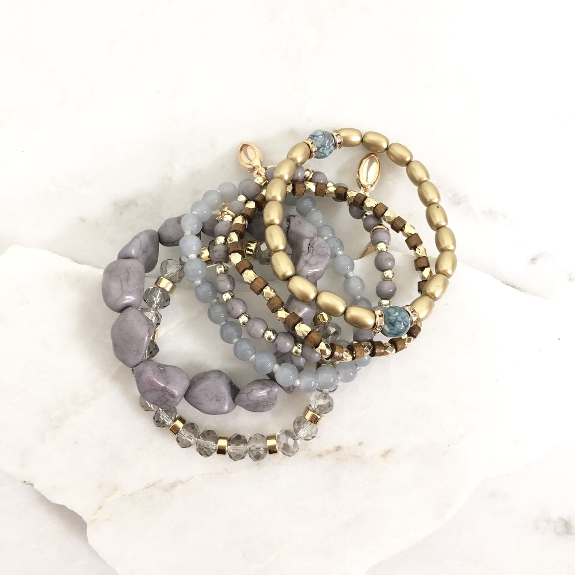Heavy Minerals Bracelet in Grey - Dainty Hooligan