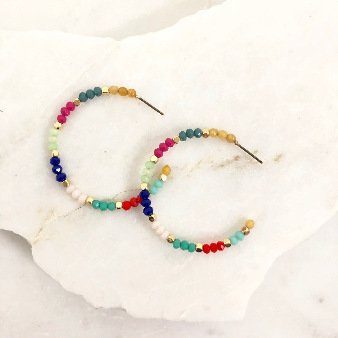 Pride & Joy Beaded Rainbow Earrings