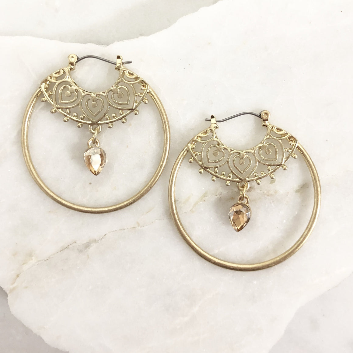 Letting Go Of Hoop Earring in Gold