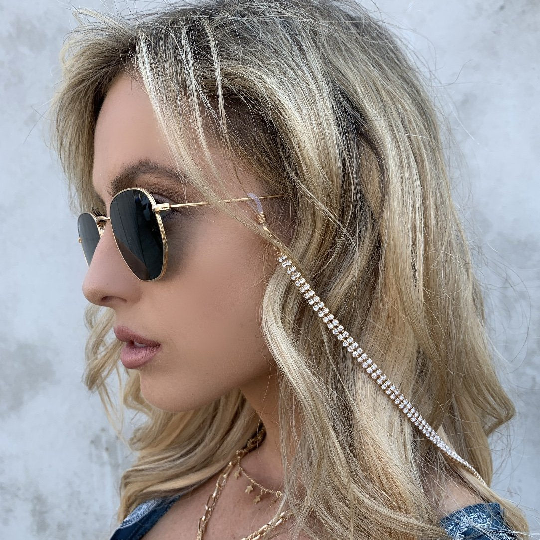 It's Crystal Clear Sunglasses Chain - Dainty Hooligan
