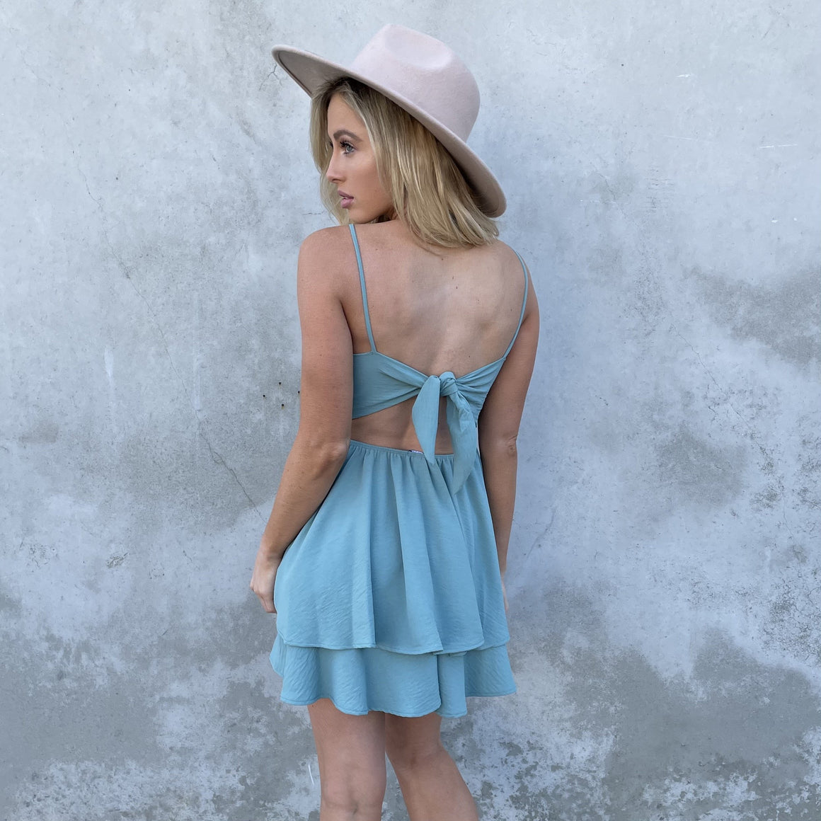 Cheers To That Skater Dress in Sage - Dainty Hooligan