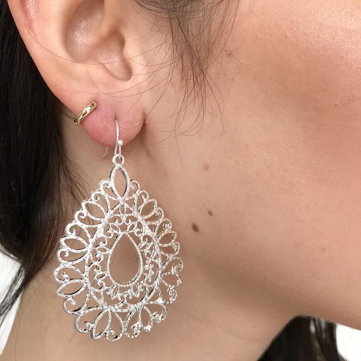 Regina Oval Drop Earrings