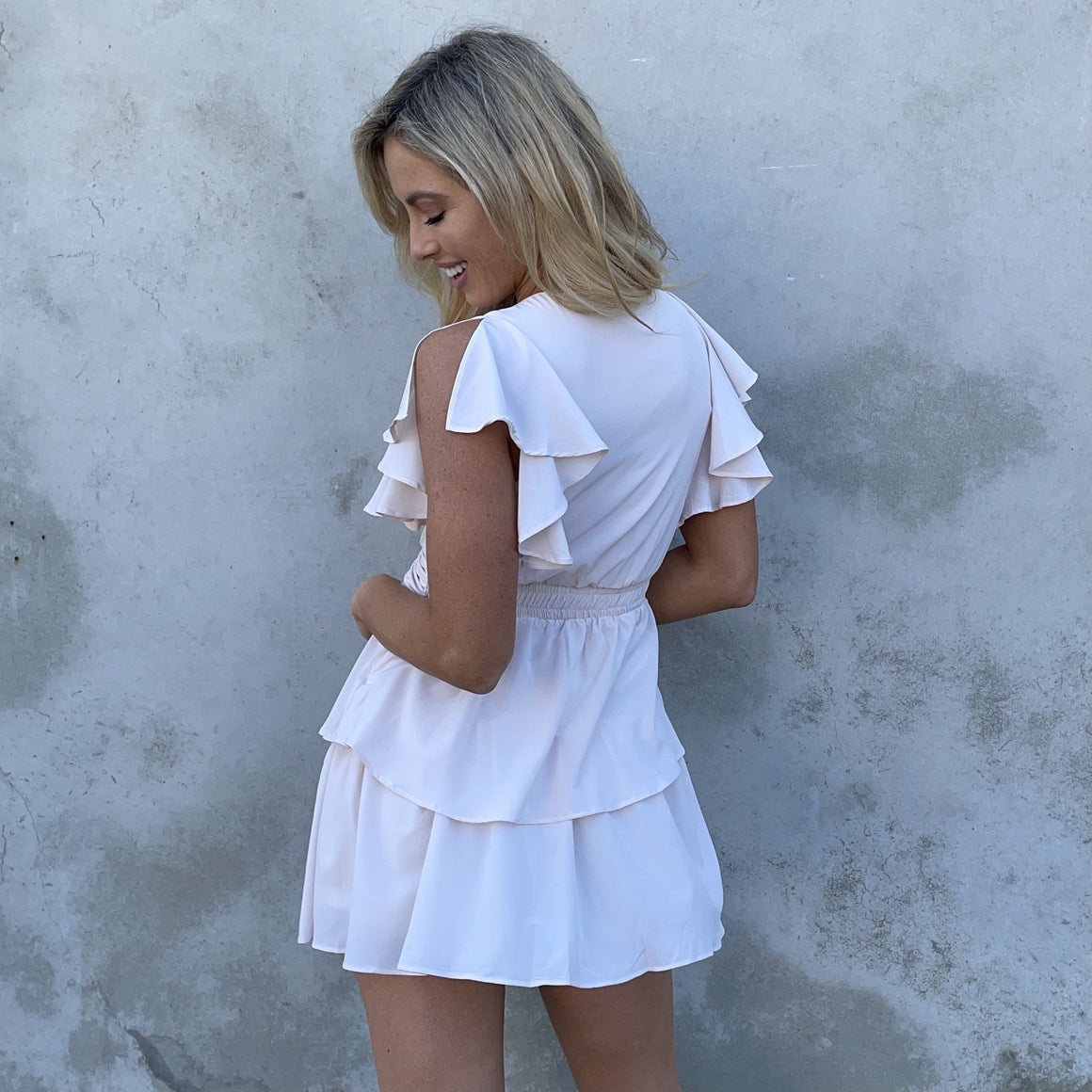 Love Is In The Air Cream Ruffle Dress - Dainty Hooligan