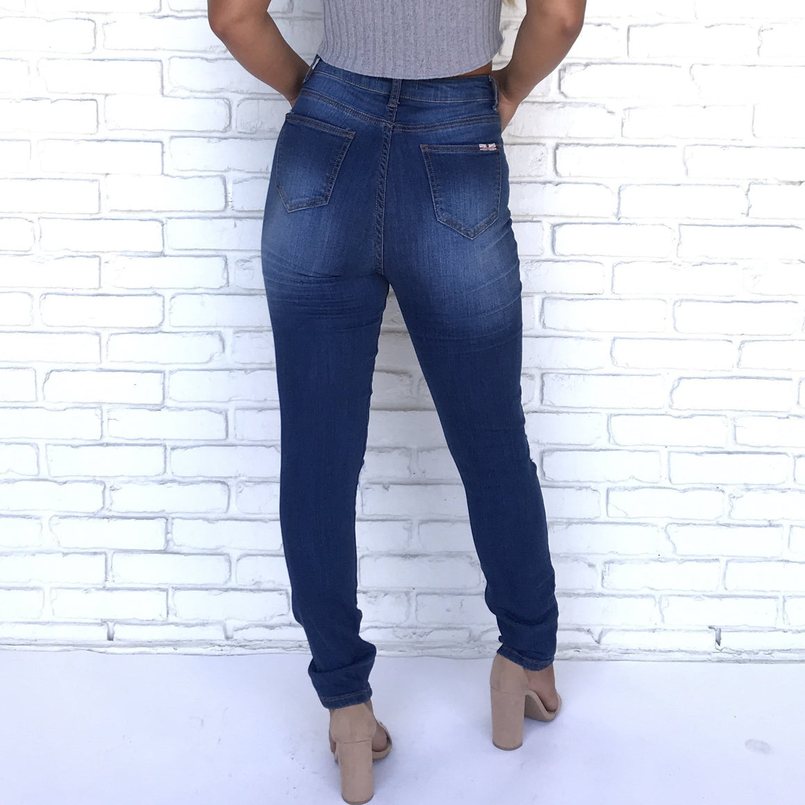 Dulce Distress High Rise Skinny Jeans