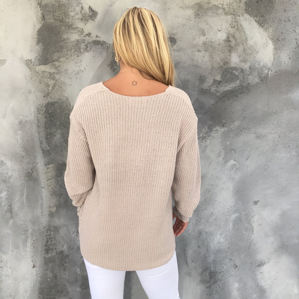 Cuddle Weather Knit Sweater In Oatmeal - Dainty Hooligan