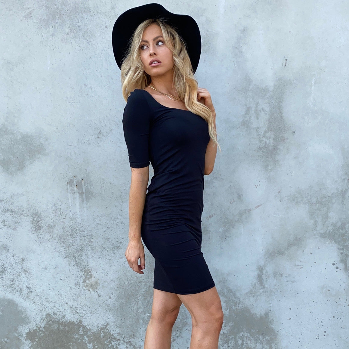 Watch the Sunset Black Bodycon Dress - Dainty Hooligan