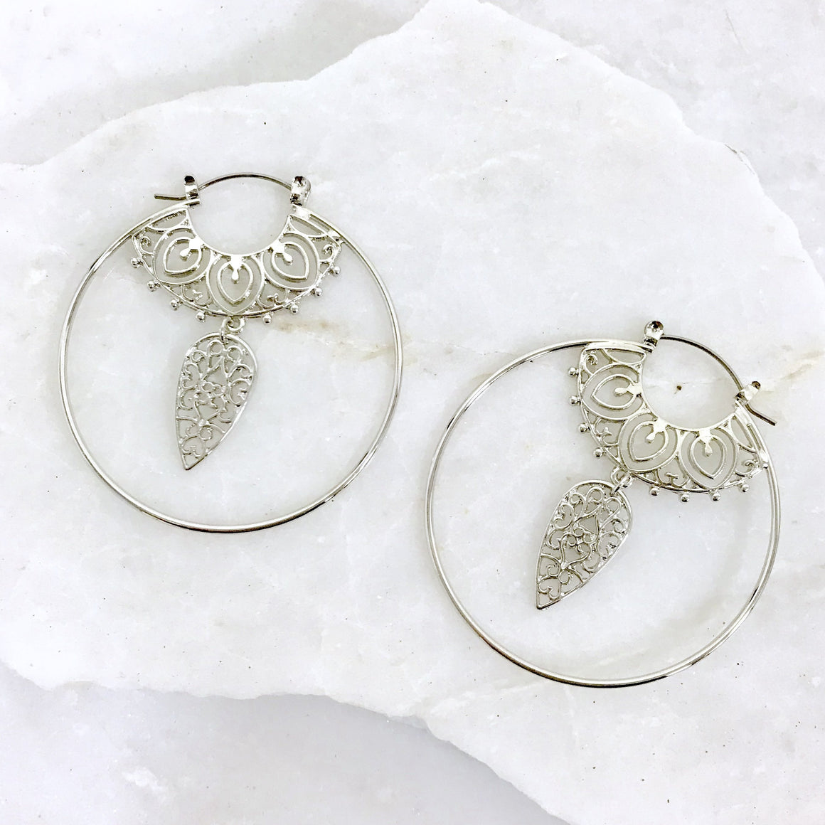 Berry Spectacular Silver Hoop Earrings