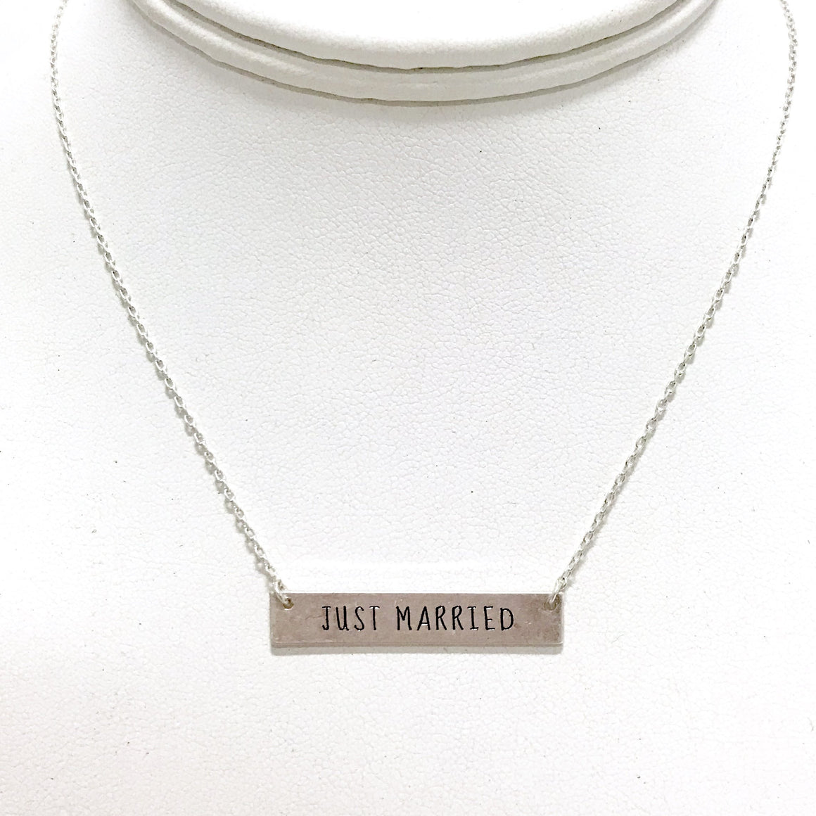Just Married Silver Necklace