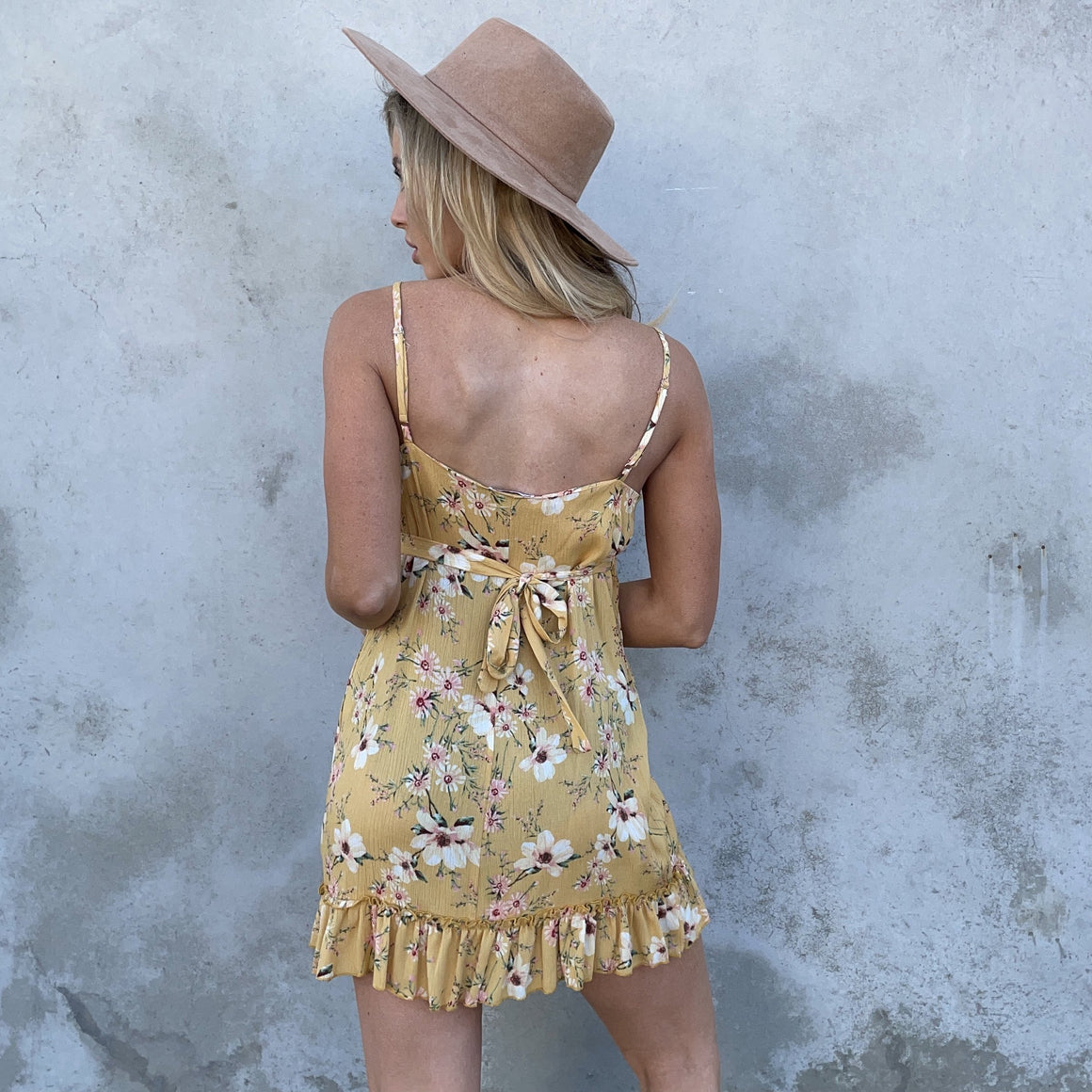 Sweet As Can Be Yellow Floral Shift Dress - Dainty Hooligan