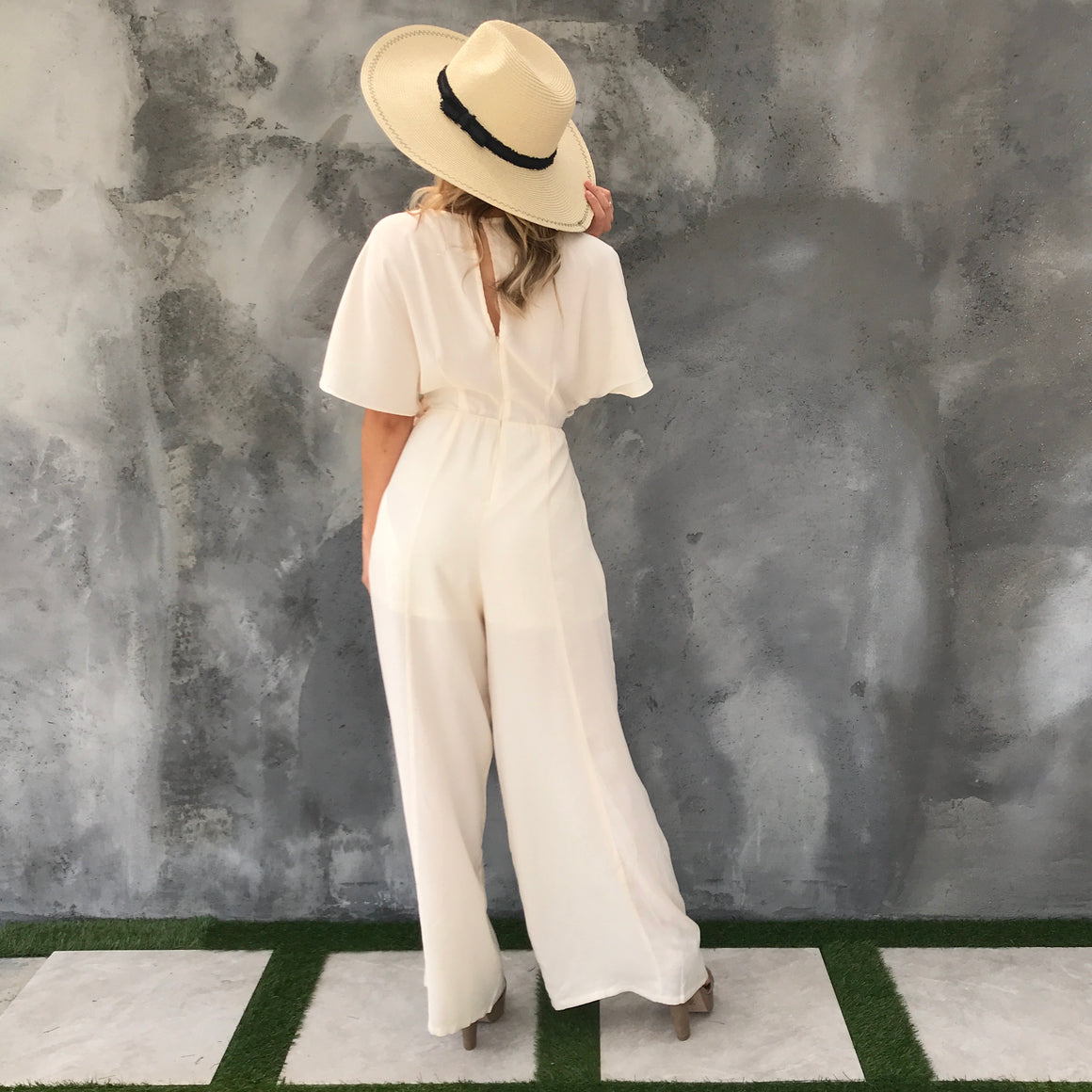 Bel Air Jumpsuit in Ivory