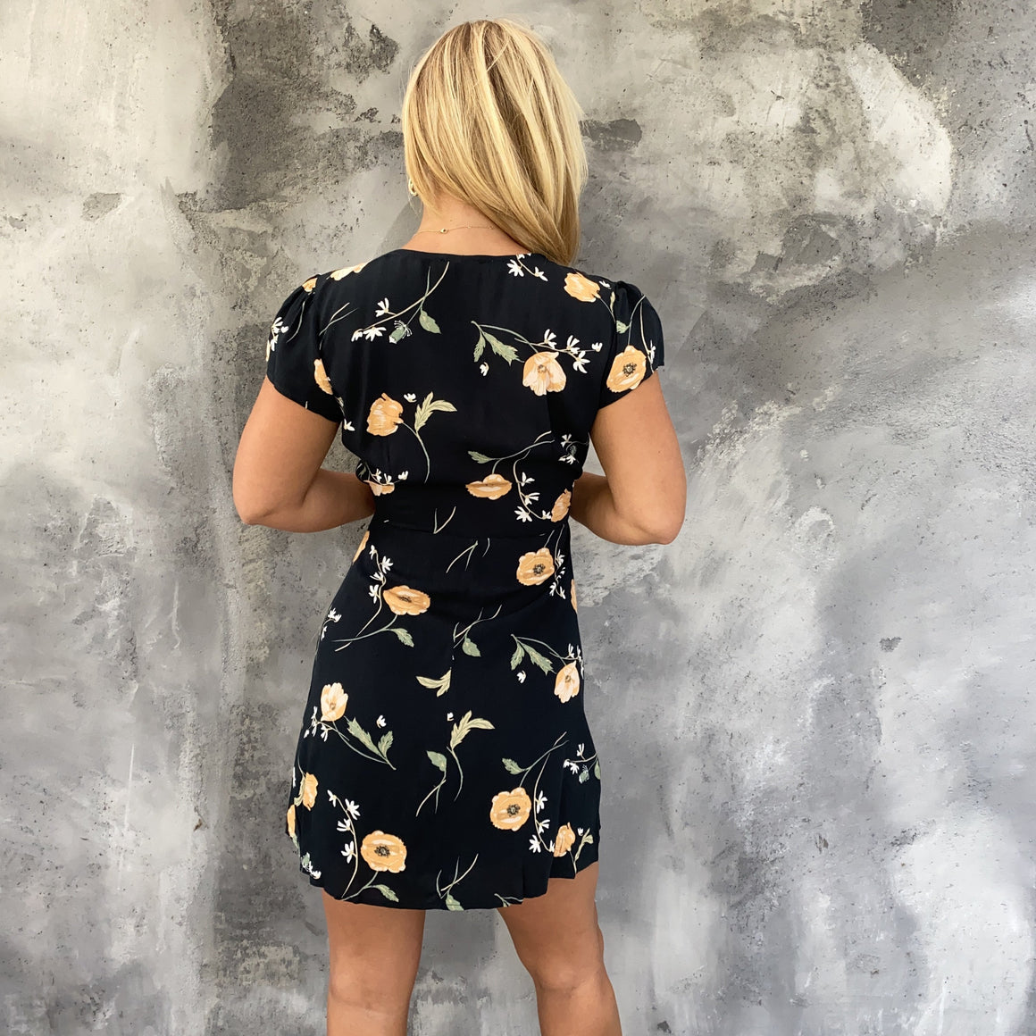 Dreamy Nights Floral Wrap Dress