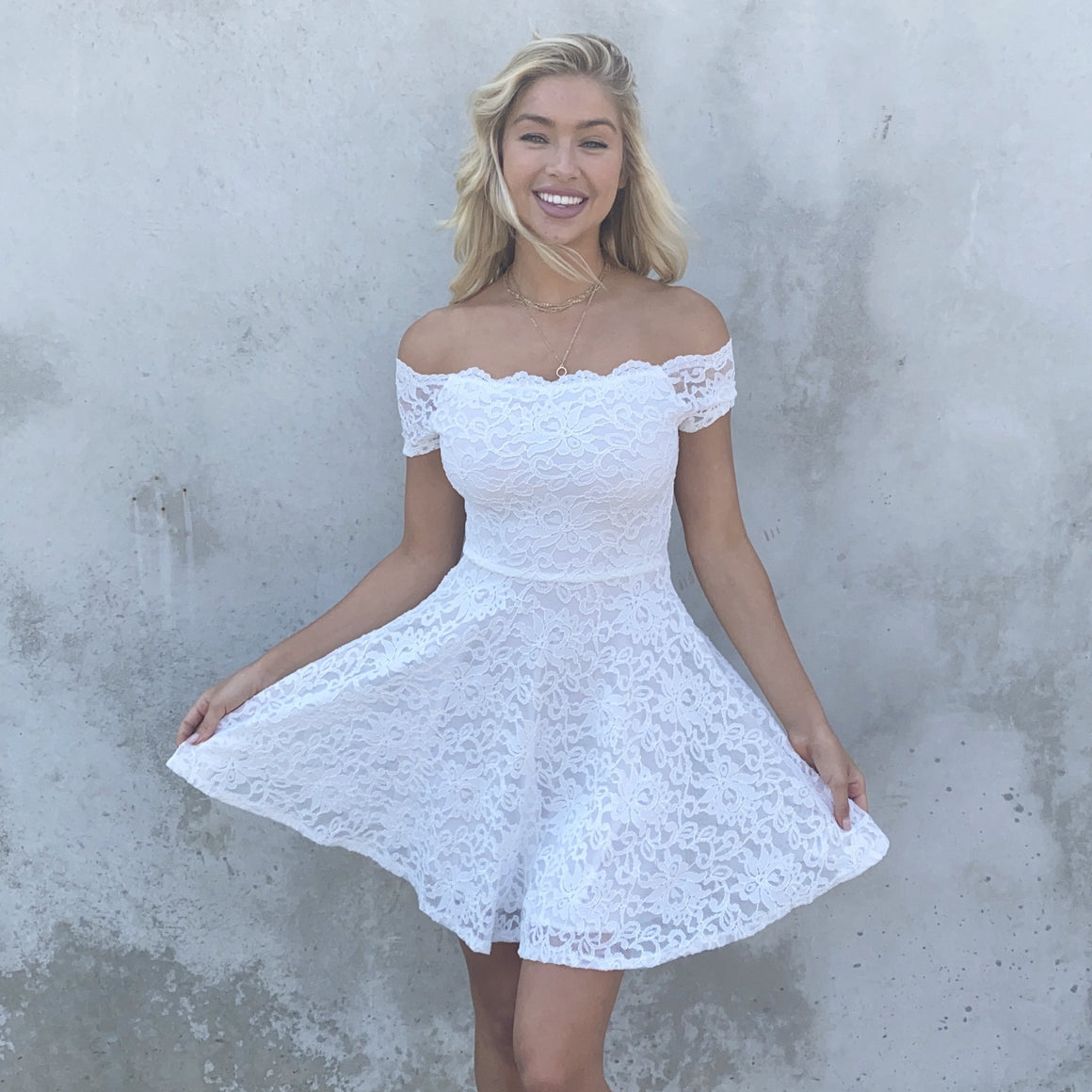 Feelin' the Love White Lace Dress - Dainty Hooligan
