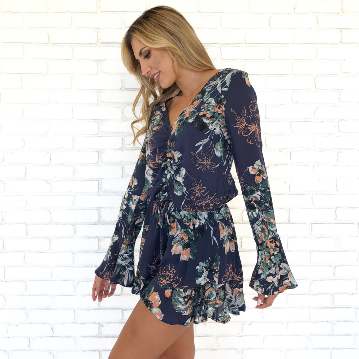 Can't Stop The Feeling Floral Romper