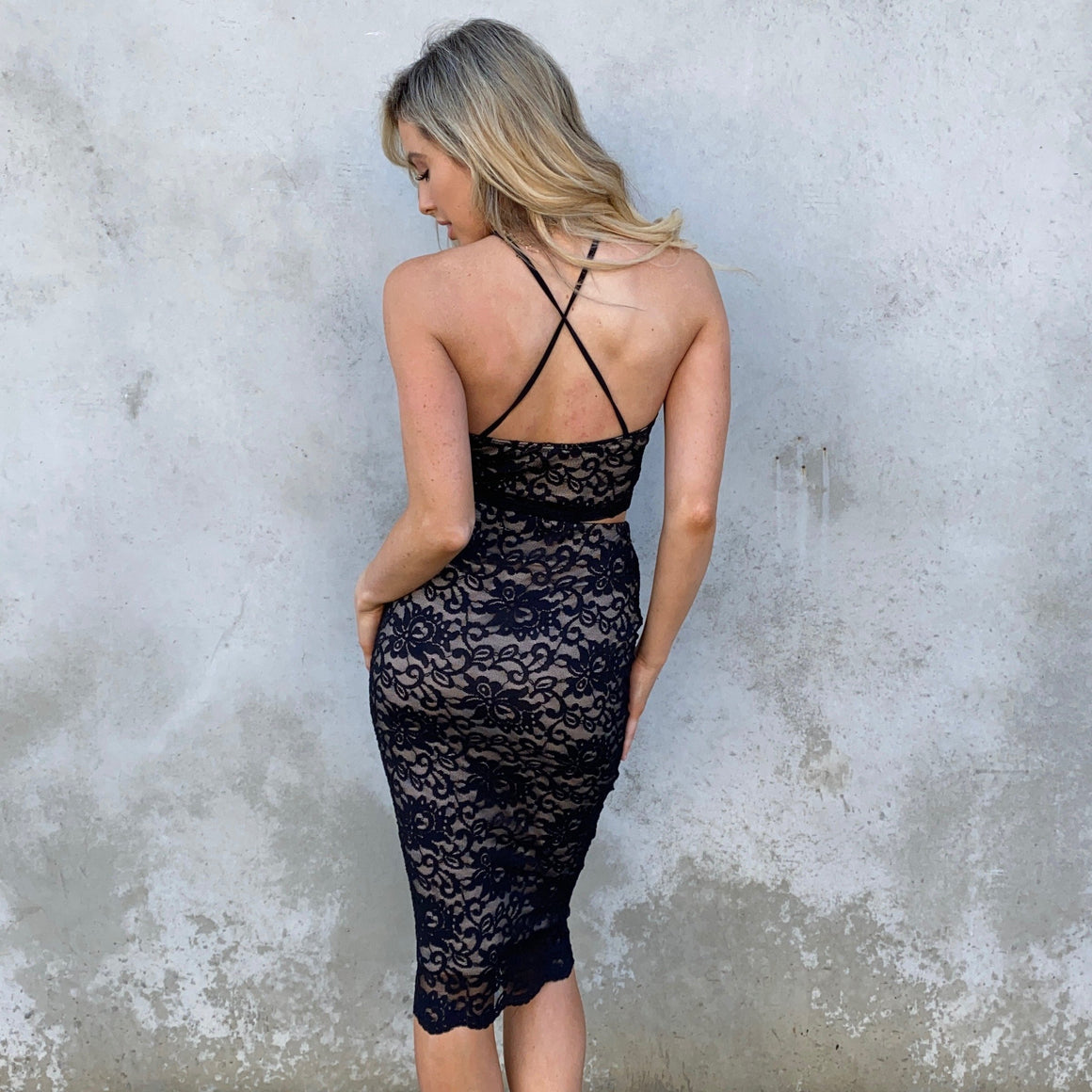 Two To Tango Black Lace Party Set - Dainty Hooligan