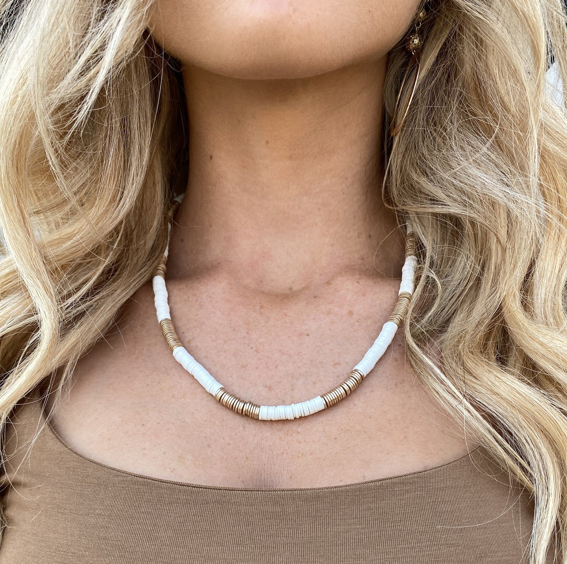 Natural Ambition Ivory & Gold Necklace - Dainty Hooligan