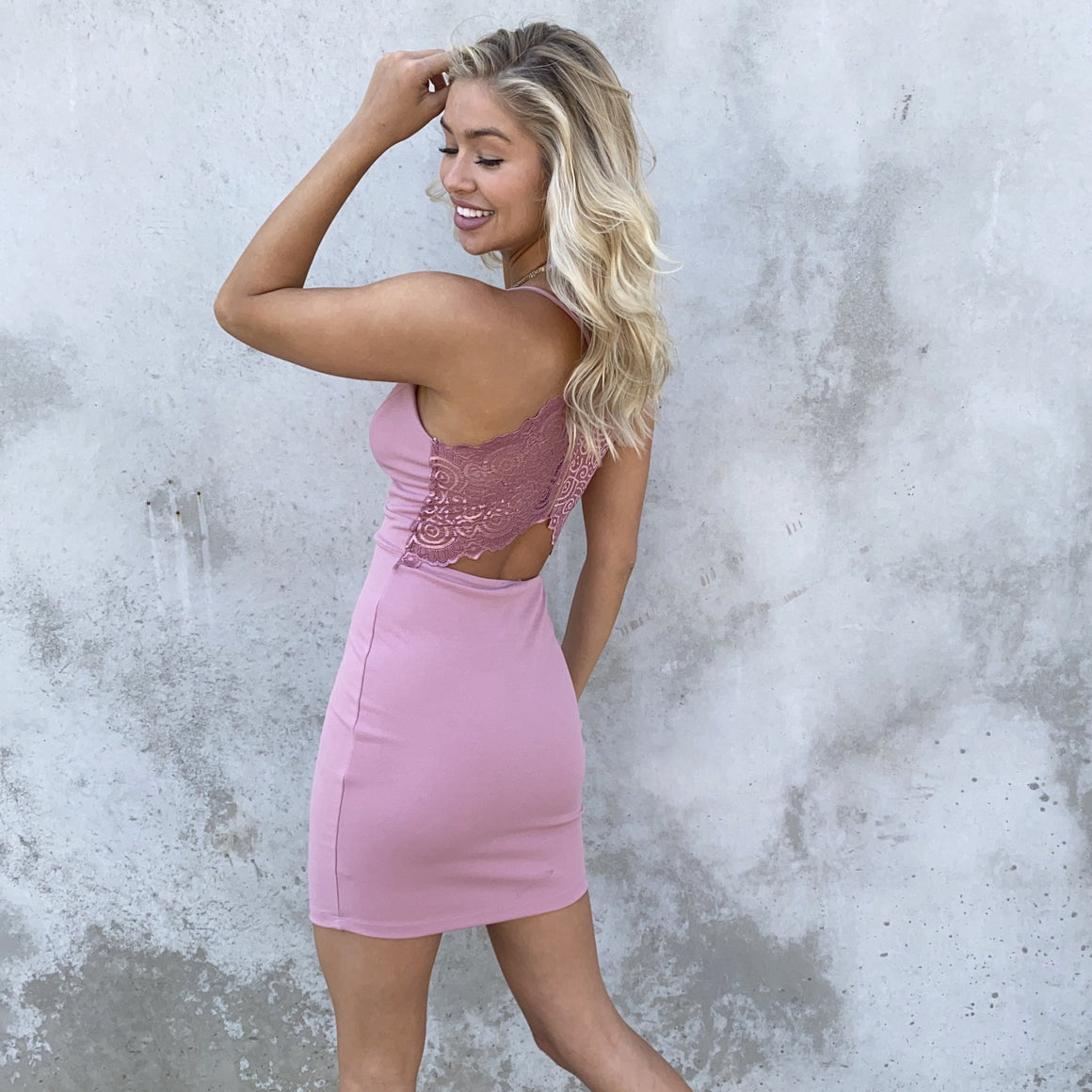 First Date Bodycon Dress in Pink - Dainty Hooligan
