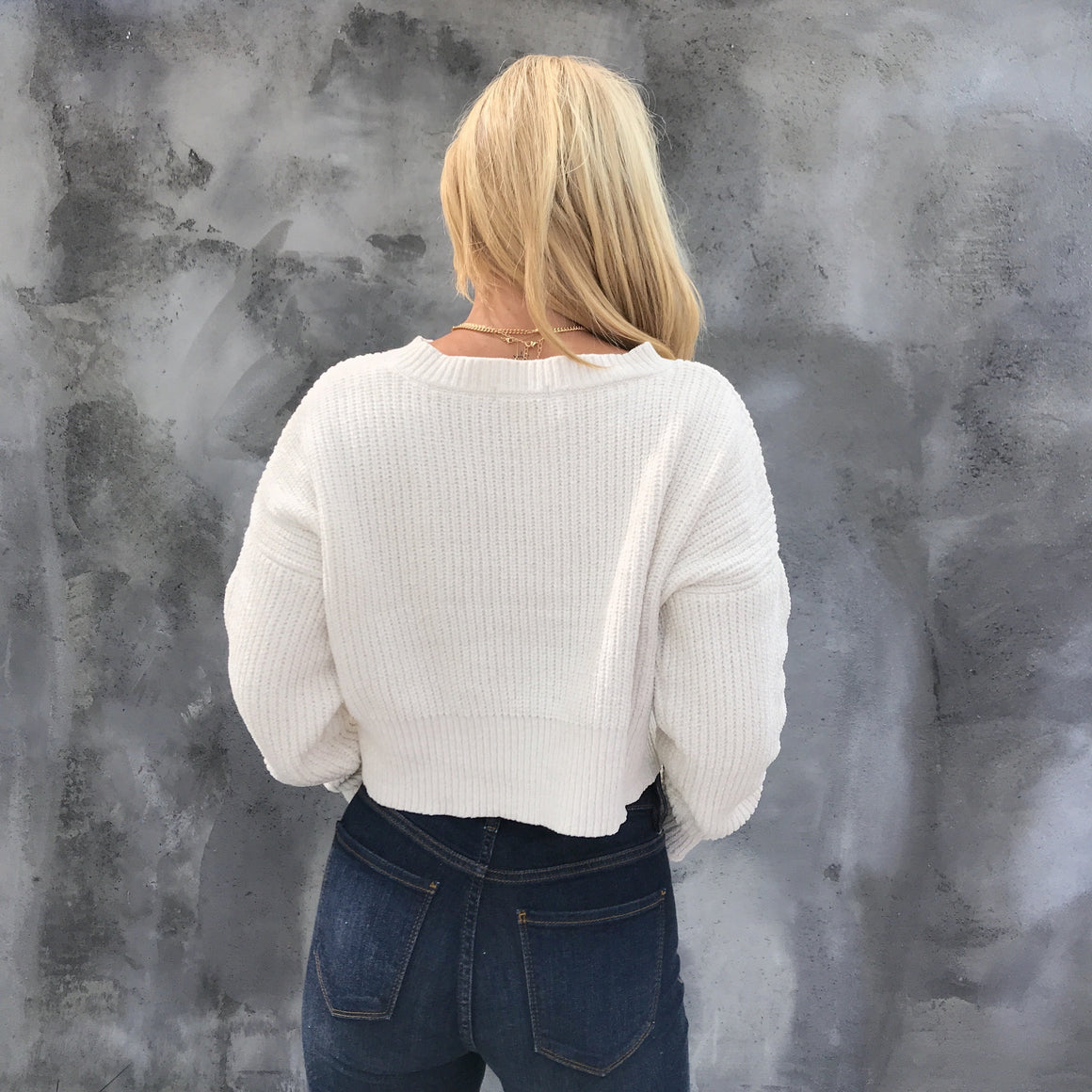 Glistening Snow Knit Sweater