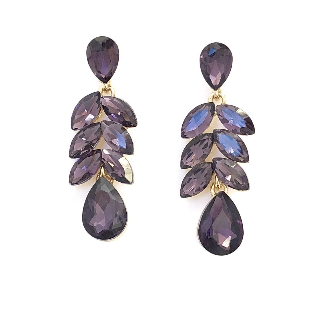 Purple Crystals On A Vine Earrings - Dainty Hooligan