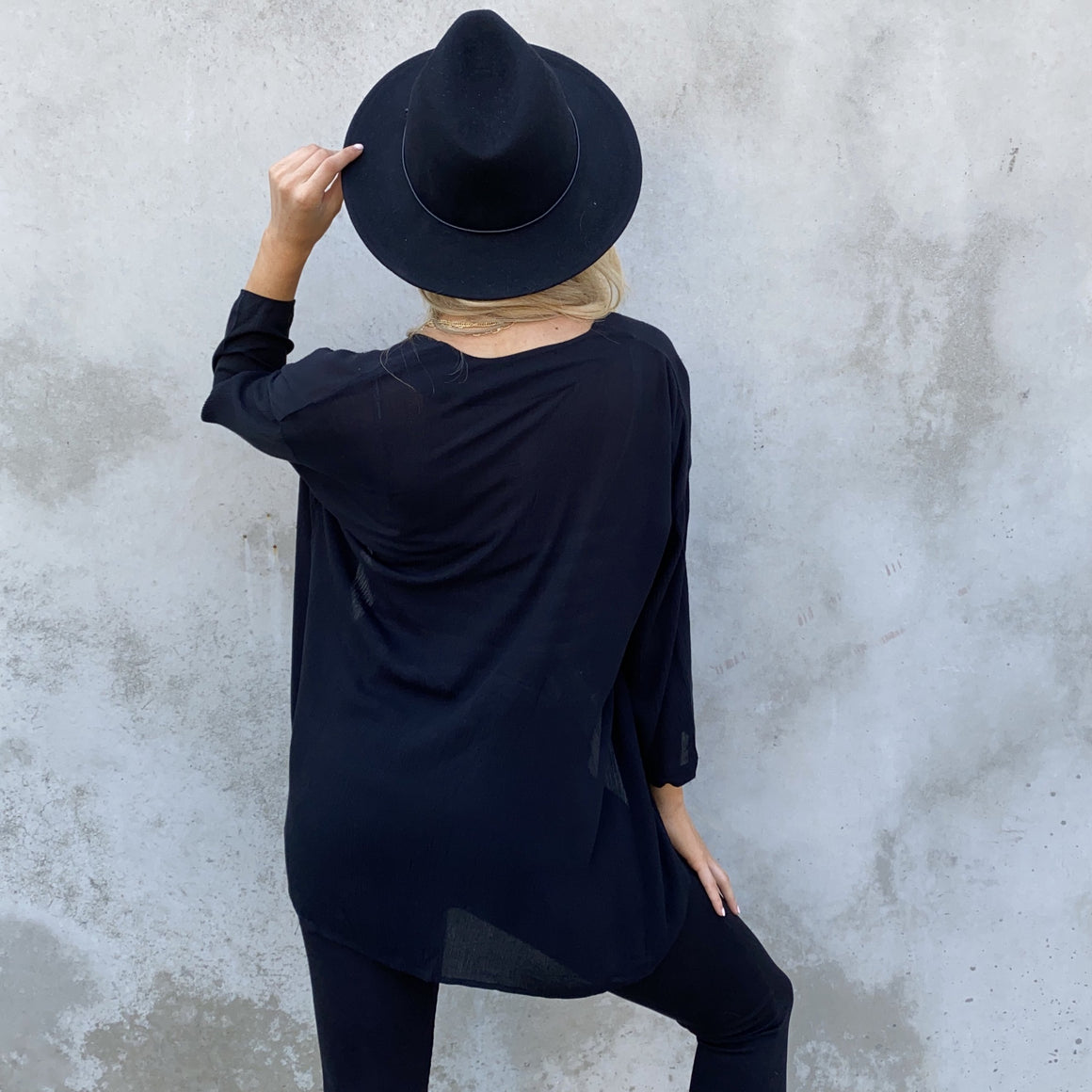 Keep it Simple Black Cardigan - Dainty Hooligan