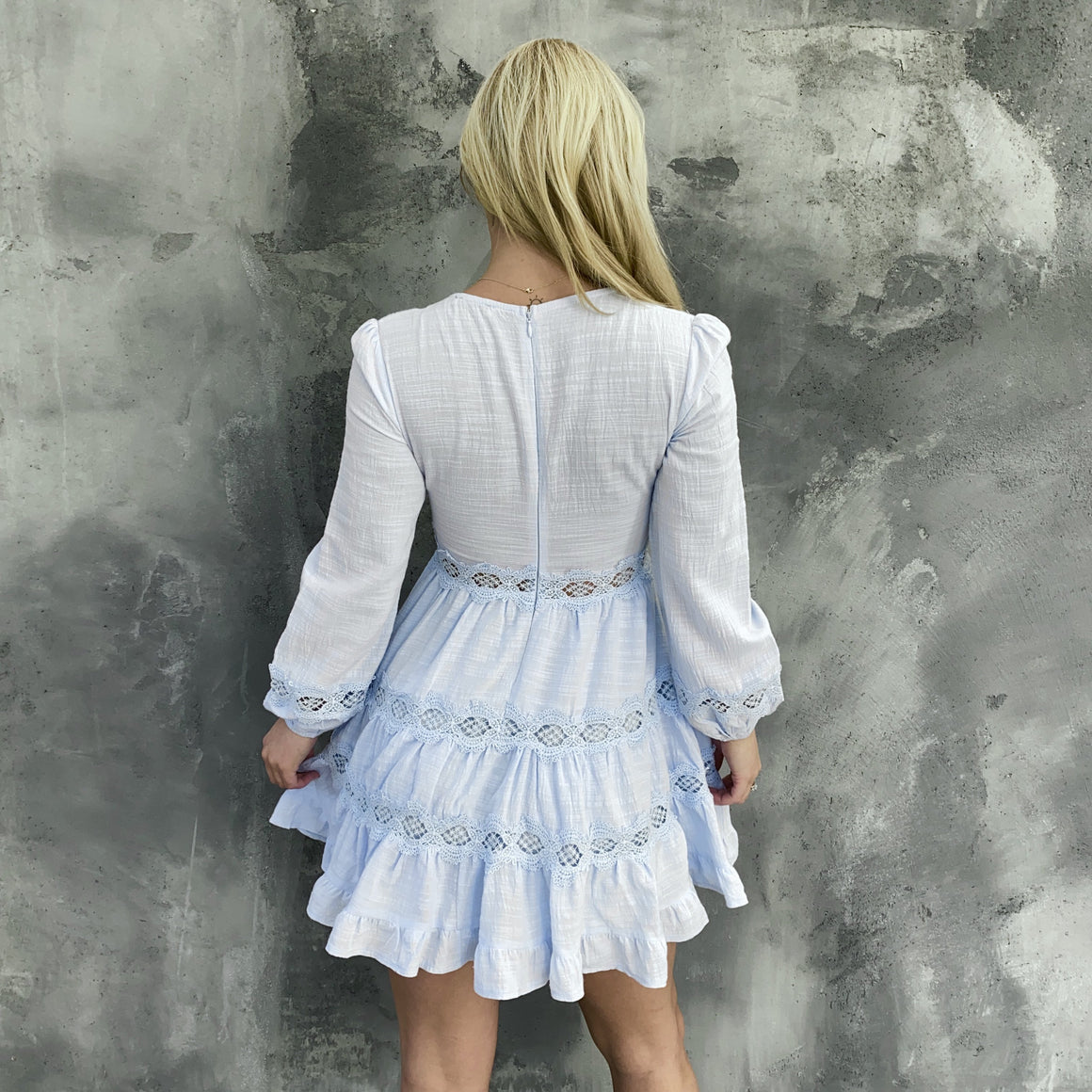 Ruffle & Flow Baby Blue Dress