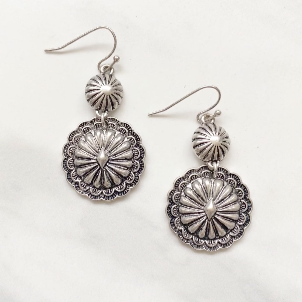 Get To Know You Antique Silver Earrings