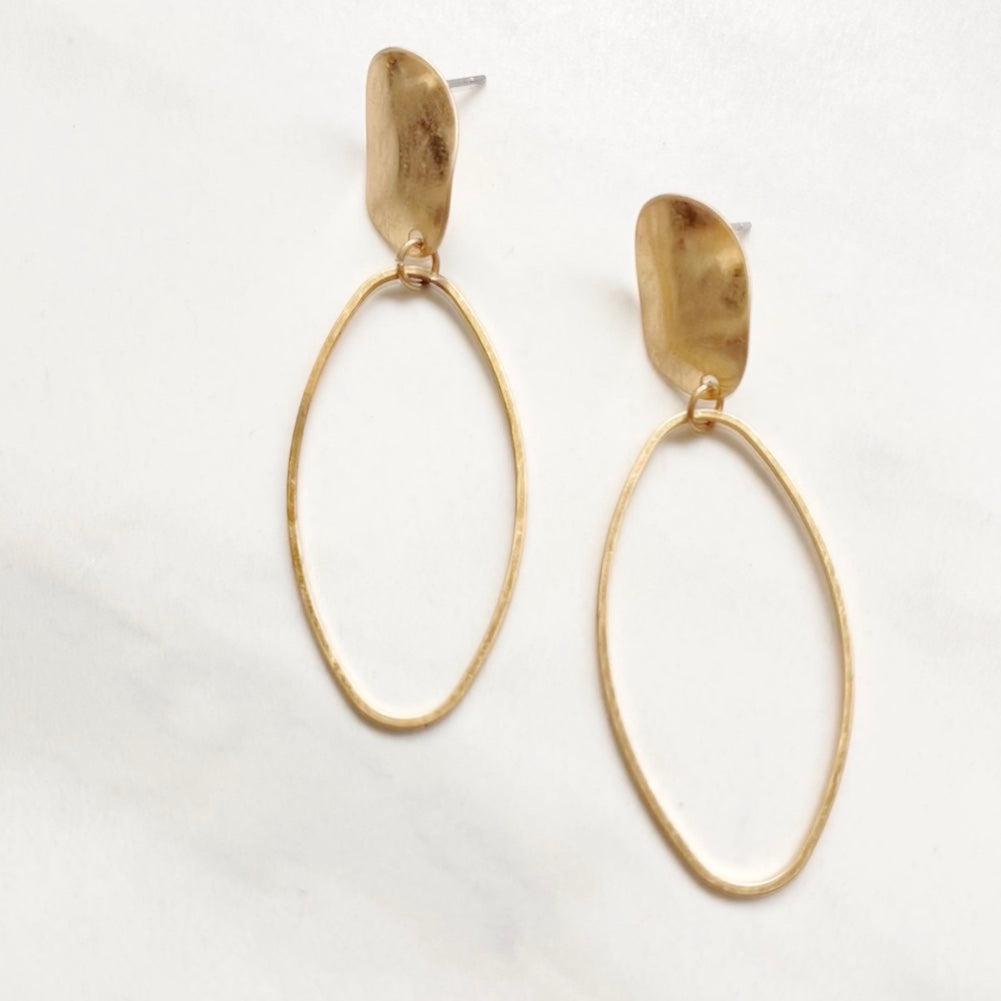 Take You There Gold Drop Earrings - Dainty Hooligan
