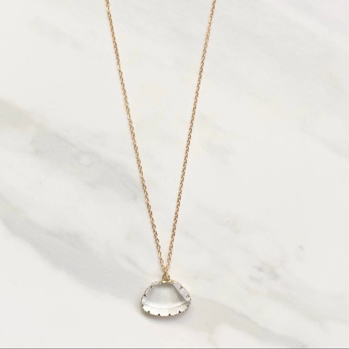 Diamond In The Rough Pendant Necklace - Dainty Hooligan