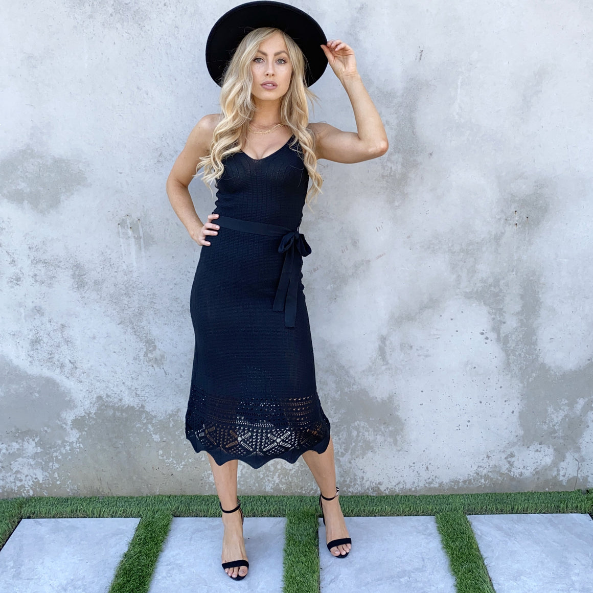 Written With Love Knit Maxi Dress in Black - Dainty Hooligan