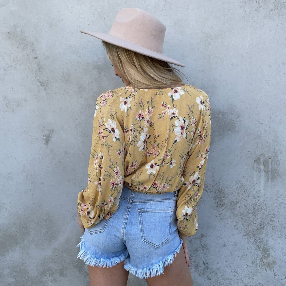 Sweet As Can Be Yellow Floral Top - Dainty Hooligan