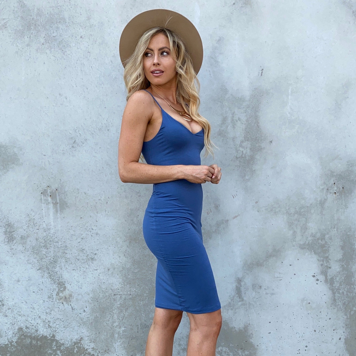 Forever Your Girl Blue Midi Dress - Dainty Hooligan