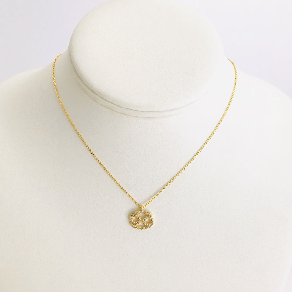 Cancer Zodiac Necklace In Gold