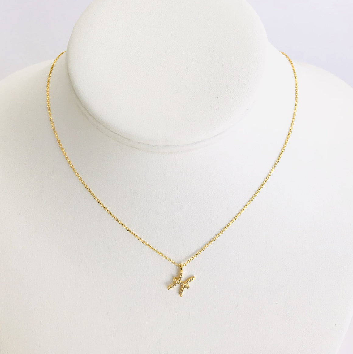 Pisces Zodiac Necklace In Gold