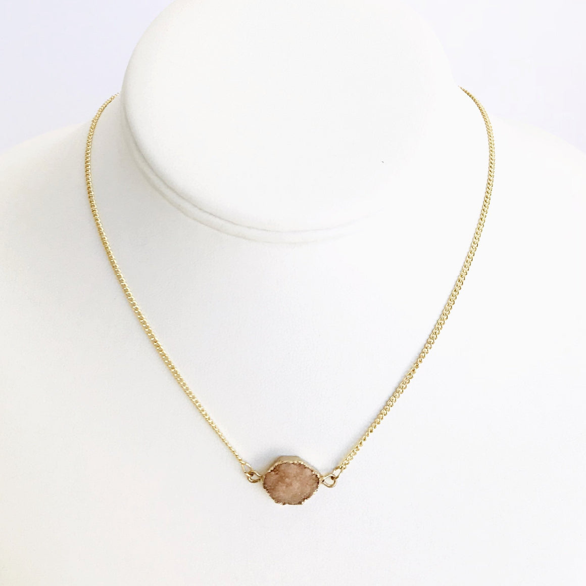 Blushing Over You Gold Necklace
