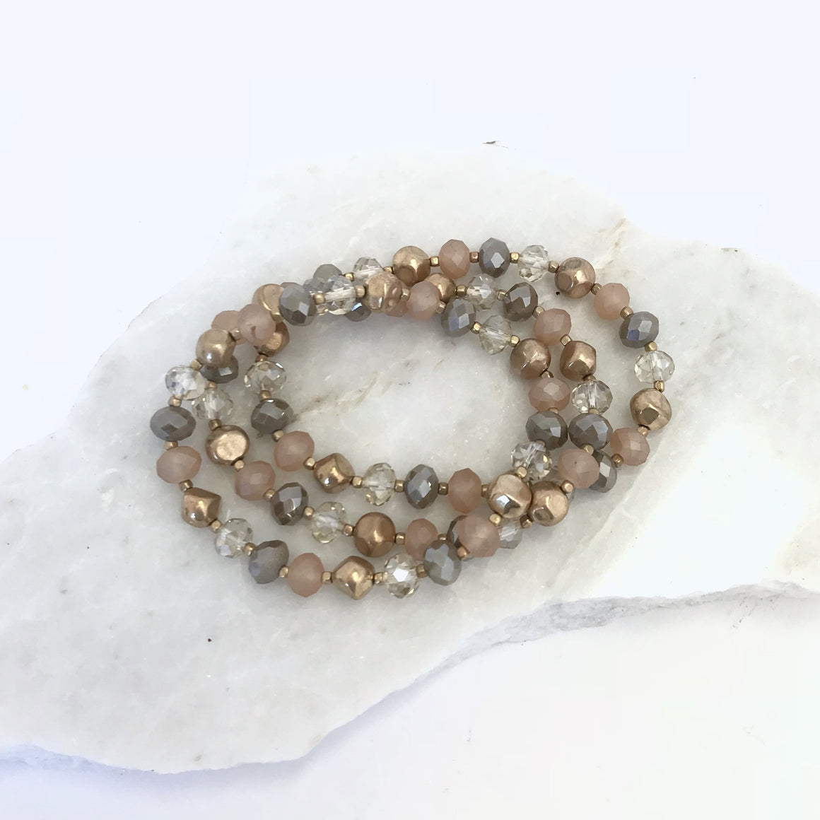 Ready To Rock Crystal Bracelet Set - Dainty Hooligan