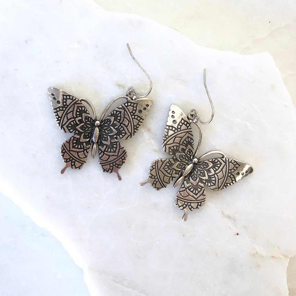 Give Me Butterflies Silver Earrings