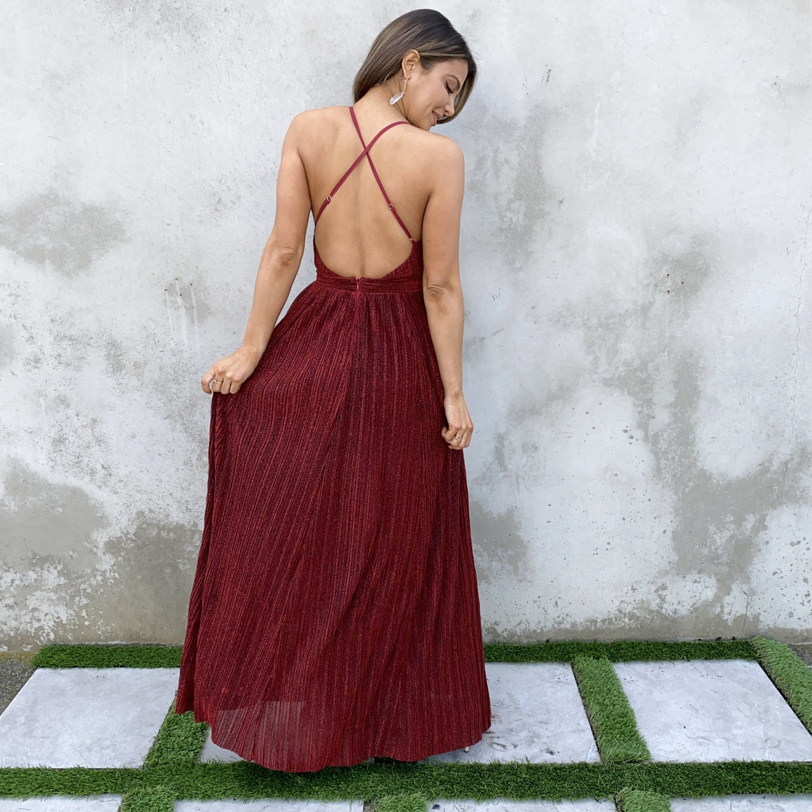 Hidden Gems Red Party Maxi Dress