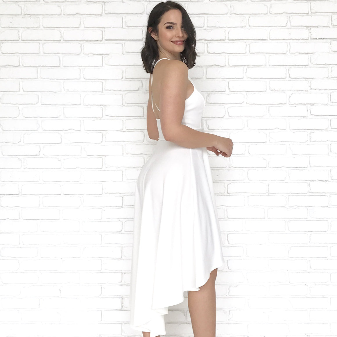 Happy Days High Low White Dress
