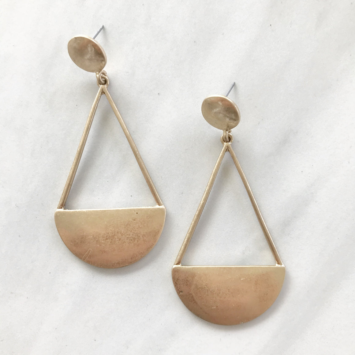 Perfect Fit Gold Statement Earrings - Dainty Hooligan