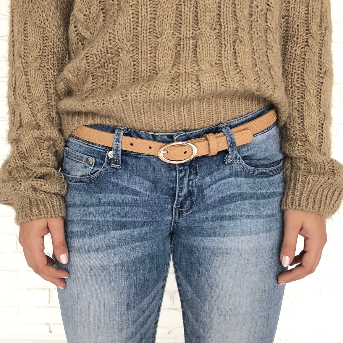 Break The Ice Taupe Belt