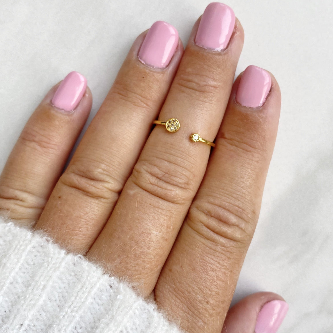 A Touch of Sparkle Gold Midi Ring - Dainty Hooligan