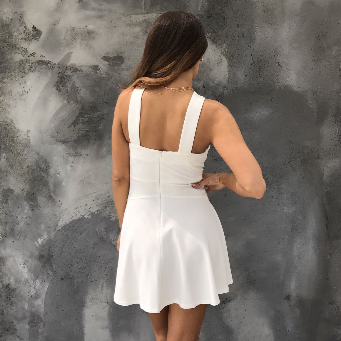 Purity Skater Dress in White - Dainty Hooligan