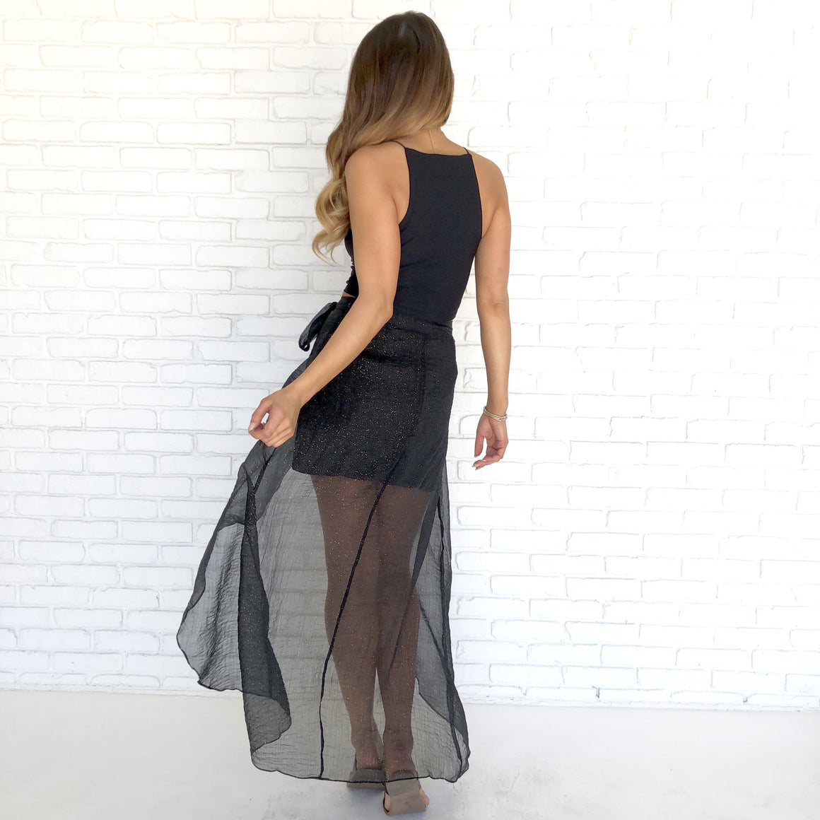 See Your True Intentions Sheer Skirt in Black - Dainty Hooligan