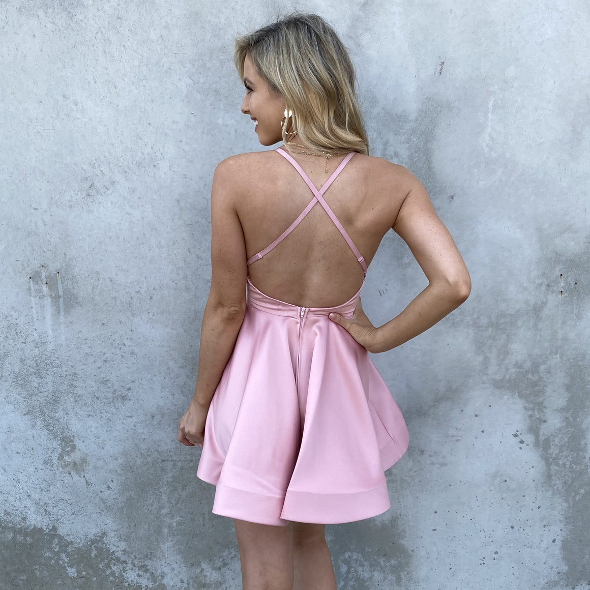 Picture Perfect Skater Dress In Pink - Dainty Hooligan
