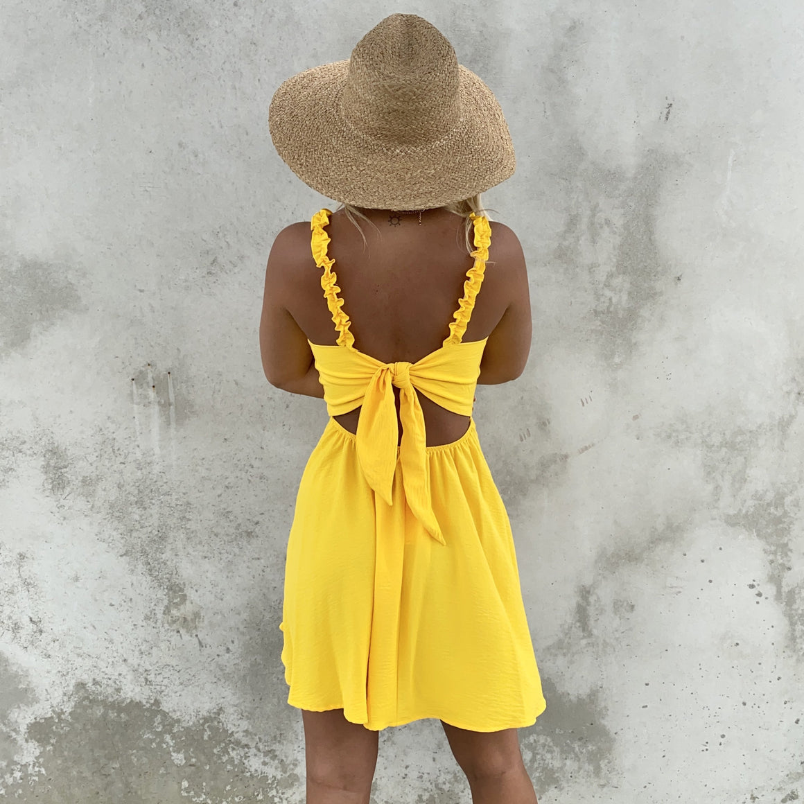 Everything Works For Good Yellow Skater Dress