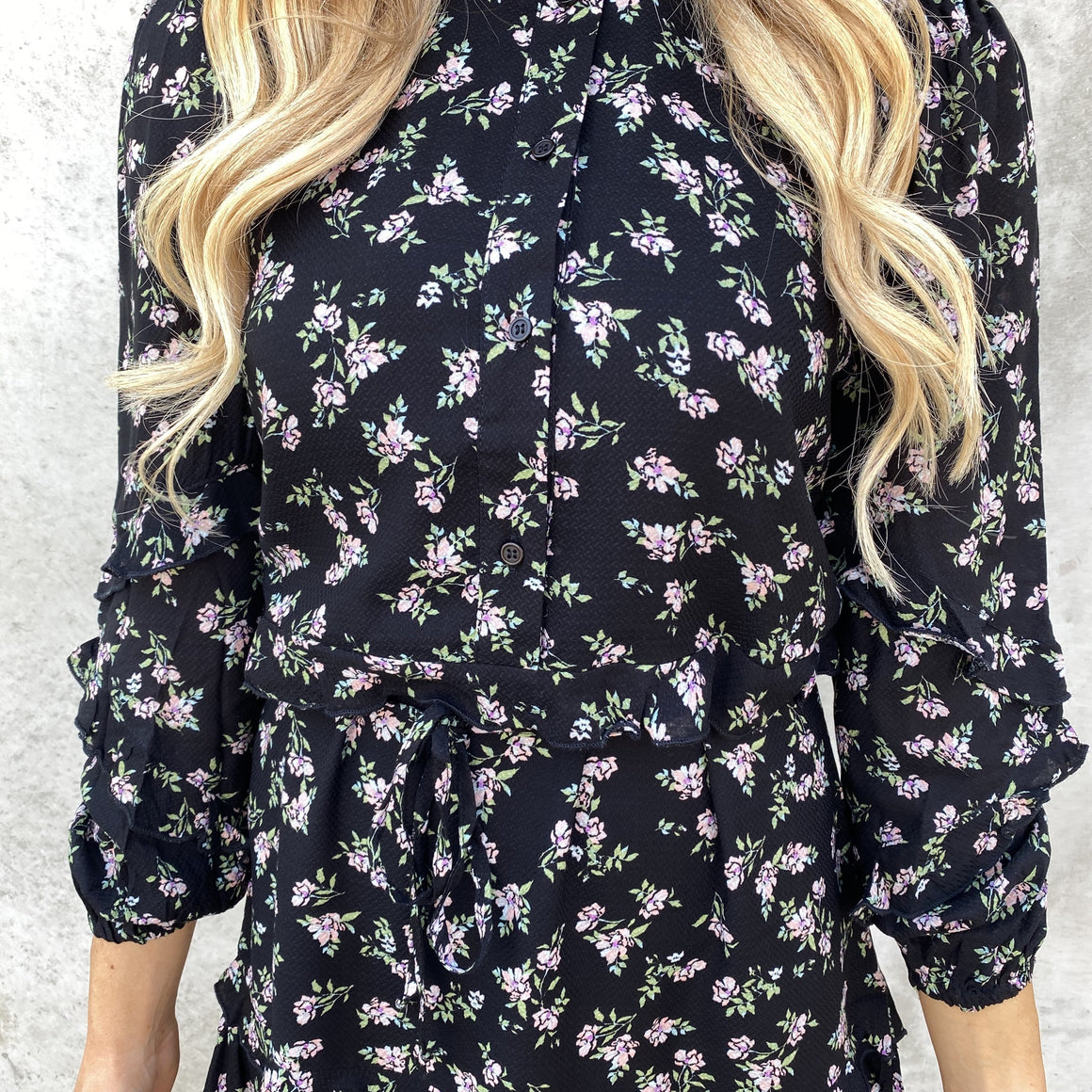 Ready to Bloom Floral Dress in Black - Dainty Hooligan
